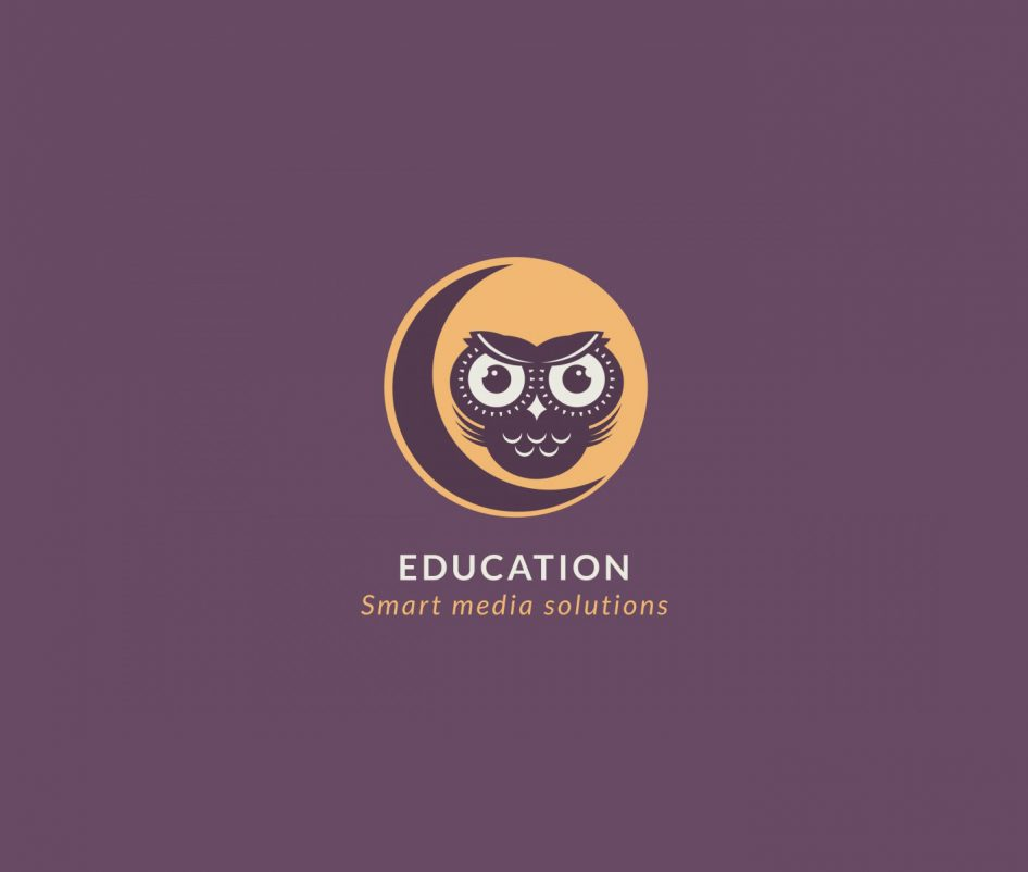 owl on the moon education logo