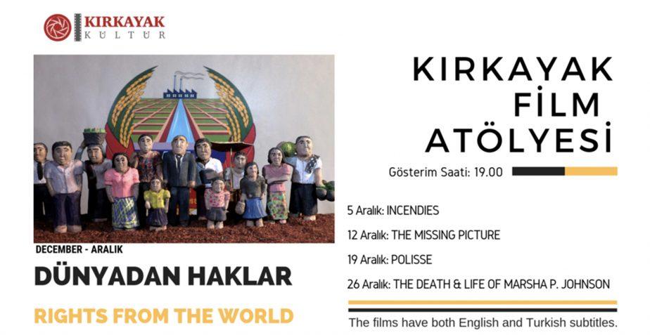 Kırkayak Kültür Film Atölyesi Aralık Ayı Programı Açıklandı